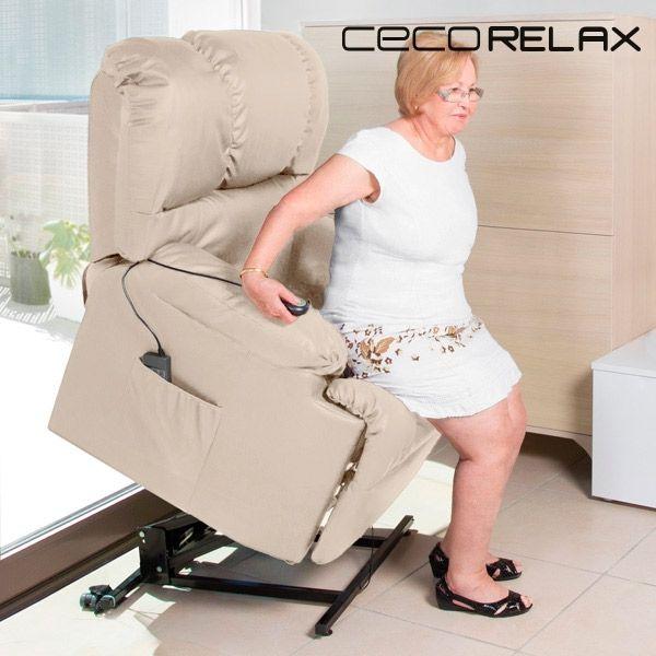 Sans Marque Fauteuil De Relaxation LÈVE-PERSONNE Avec Massage Cecorelax 6012