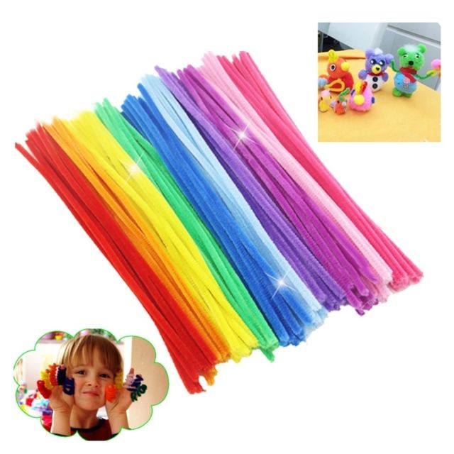 Wewoo Jeu construction Diy 300 pcs / lot Montessori Matériaux Math Chenille Tiges Sticks Puzzle Craft Enfants Pipe Cleaner Jou