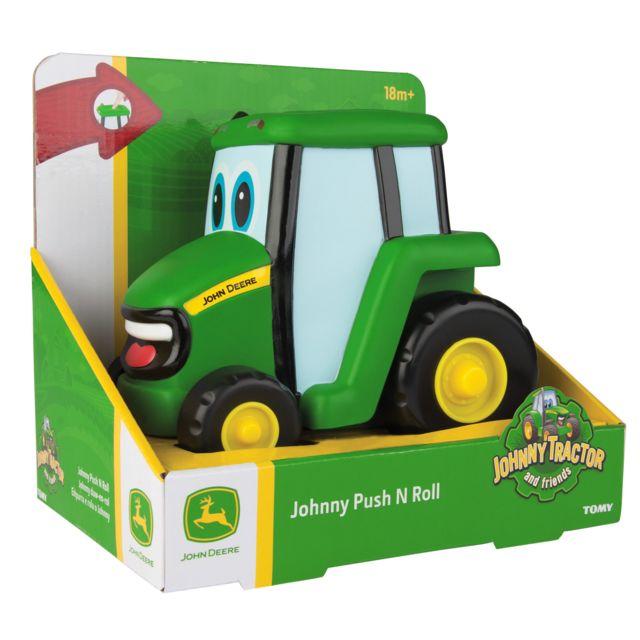 Pousse Roule Johnny le Tracteur Jouet de Premier Age John Deere 42925