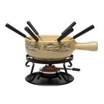 NOUVEL - service à fondue 6 fourchettes beige crème - 310735