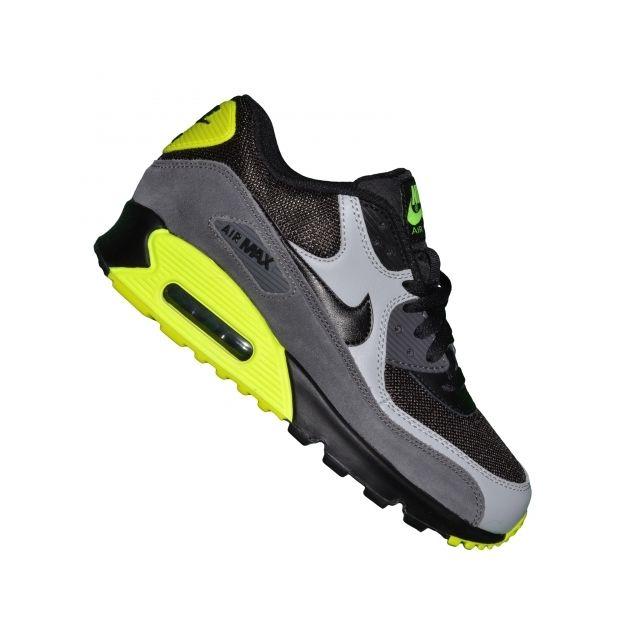 best sneakers 92d81 9484d Nike - Basket - Femme - Air Max 90 Mesh 152 - Noir Gris Jaune Fluo - pas  cher Achat   Vente Baskets femme - RueDuCommerce