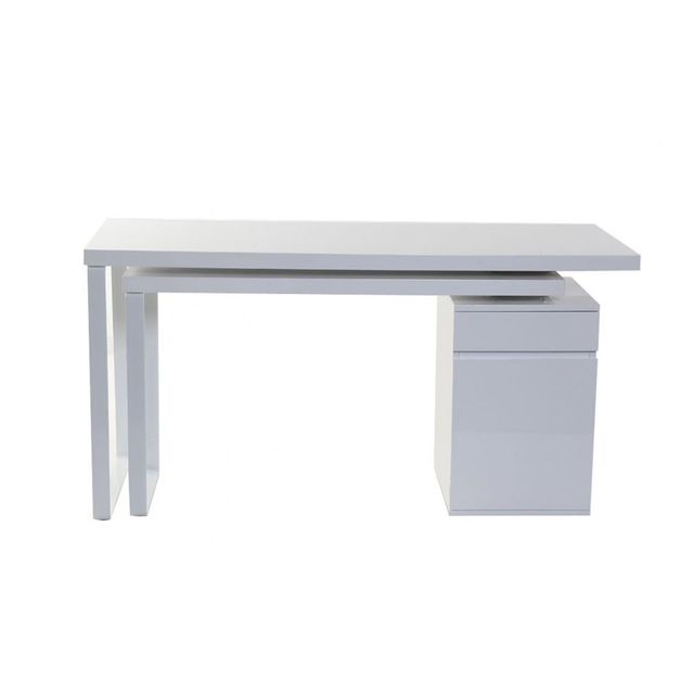 Bureau simple pas cher for Bureau simple blanc