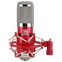 Pronomic - Cm-100R Studio microphone condensateur incl. suspension & filtre anti pop en rouge