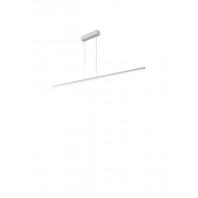 Leds C4 Suspension Circ, aluminium, blanc mat, 150 cm