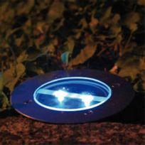 Galix - Spot extérieur solaire encastrable en acier inoxydable diamètre 12cm