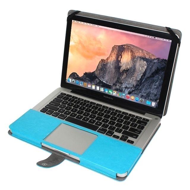 b83e3df756 Wewoo - Housse Étui bleu pour MacBook Pro 15,4 pouces ordinateur portable  avec fermoir