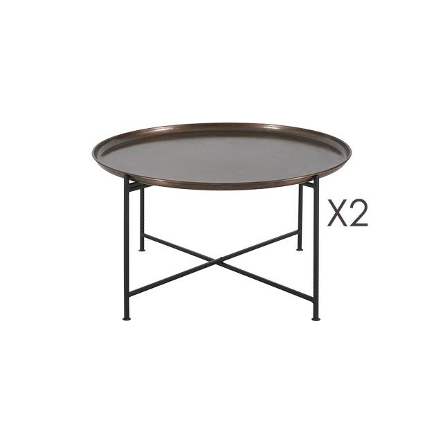 Lot de 2 Tables Basses Kantoune D81xH44,5cm