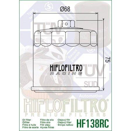Aprilia - 1000 Rsv4-09/17-FILTRE A Huile Hf138RC Racing