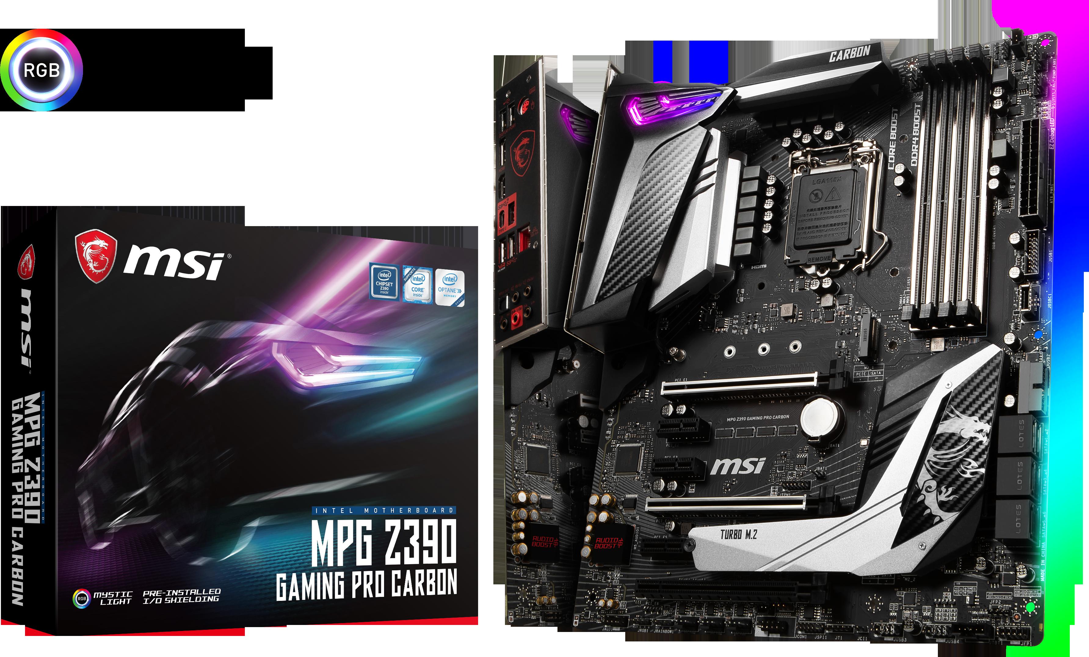 Carte mère Intel Z390 Gaming Pro Carbon MSI
