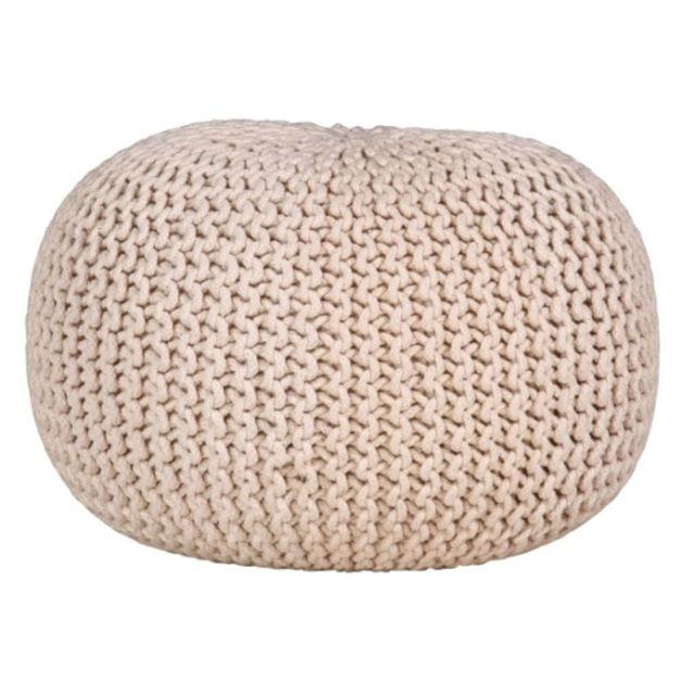 AUBRY GASPARD - Pouf boule en coton écru Ecru