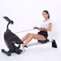 Ise - Rameur d appartement Rameur à air pliable appareil de fitness musculation cardio training - 8 Niveaux de résistance Sy-15002