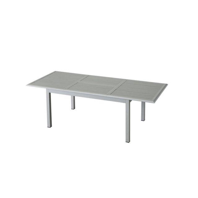Pegane Table Extensible Rectangulaire En Aluminium Silver Mat