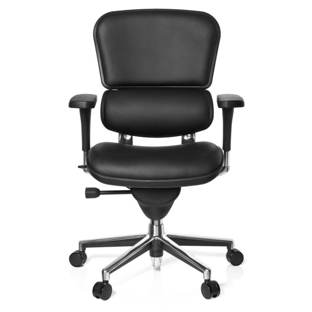Hjh Office Siège de bureau / Fauteuil de direction Ergohuman cuir noir