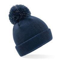 Beechfield - Bonnet pompon enfant à fibres réfléchissantes - B406B - bleu marine