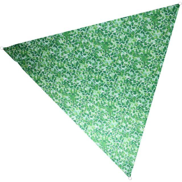 NATURE PRINTS Voile d'ombrage triangulaire avec sac de rangement Motif feuilles