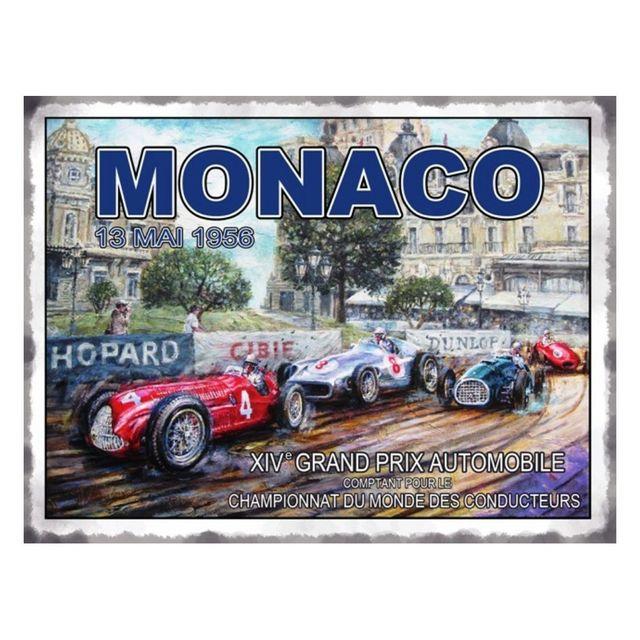 Universel Plaque grand prix monaco 13 mai 1956 tole deco garage pub