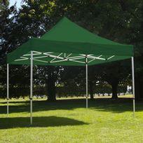 Mobeventpro - Tente pliante 3x3m 300g/m² 40MM Verte
