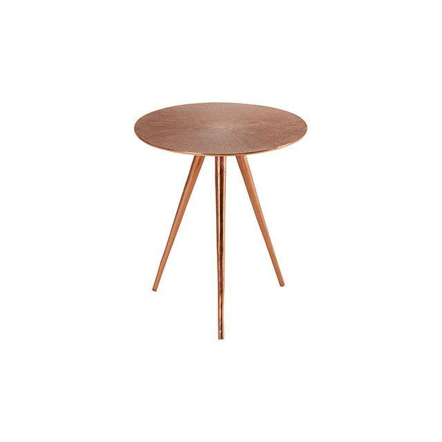 Table Sun Cuivrée D42xH54cm en aluminium