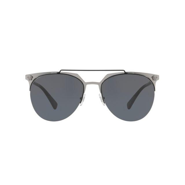 47b84bfda10f9 Versace - Ve-2181 100187 Argent - Noir - Lunettes de soleil - pas cher Achat    Vente Lunettes Tendance - RueDuCommerce