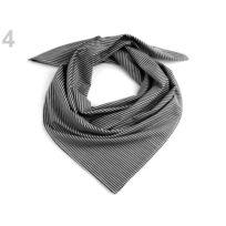 0fb938c45e238 Marque Generique - 1pc 4 bsp192, Foulard en Coton Noir Avec des Rayures  65x65 Cm
