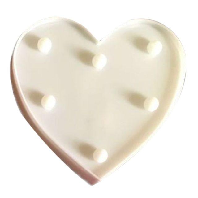 Wewoo Forme de coeur créative lumière de décoration blanche chaude Led, 2 piles Aa alimentées fête fête table table mariage la