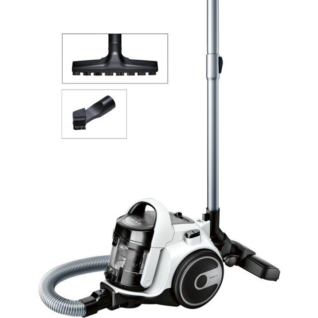 Bosch Aspirateur sans sac GS05 Cleann'n - BGS05A222 - Blanc/Noir