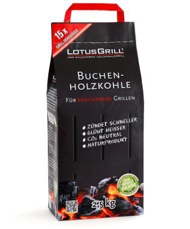 Lotusgrill - Charbon de hêtre 2.5kg