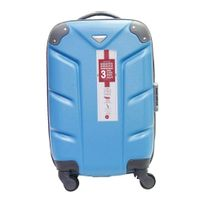 CARREFOUR - Valise rigide - 52 cm - ABS 4 roues - Turquoise