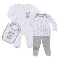 TEX BABY - Ensemble bébé 2 pyjamas et bavoir