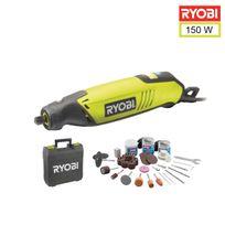 Ryobi - Coffret outils multifonctions 150W - 115 accessoires - arbre flexible - support télescopique Eht150V