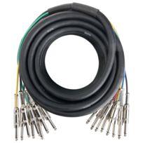 Pronomic - Stage Mjj8-6 Câble Jack Multicore 8 10m