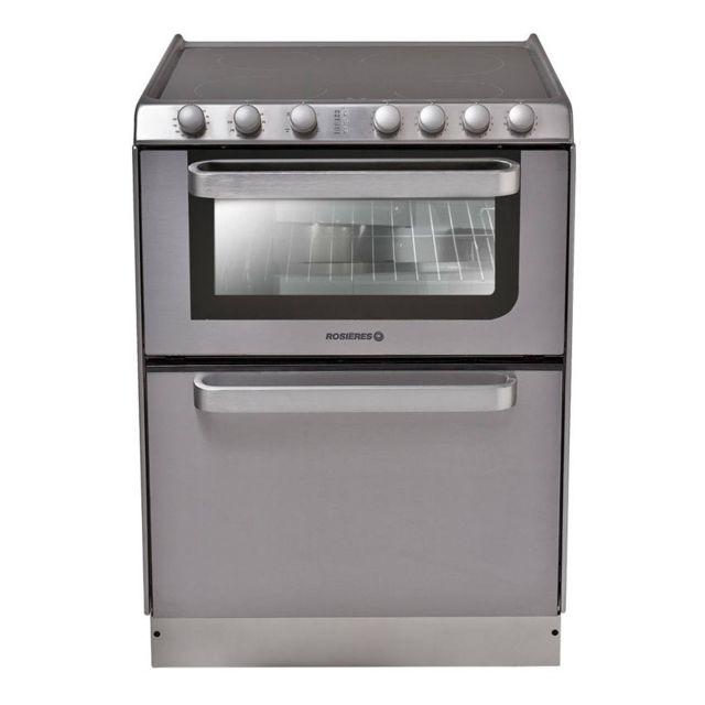 ROSIERES cuisinière vitrocéramique 4 feux combiné lave-vaisselle 6c - trv60in/u
