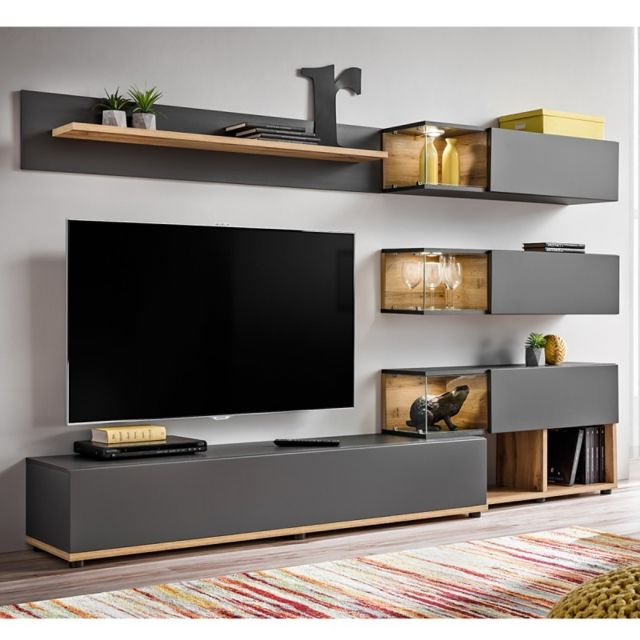 Paris Prix Meuble Tv Design Silk 240cm Gris Naturel