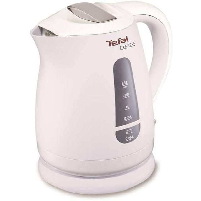 Tefal bouilloire électrique de 1,5L sans fil avec base 360° 2200W blanc