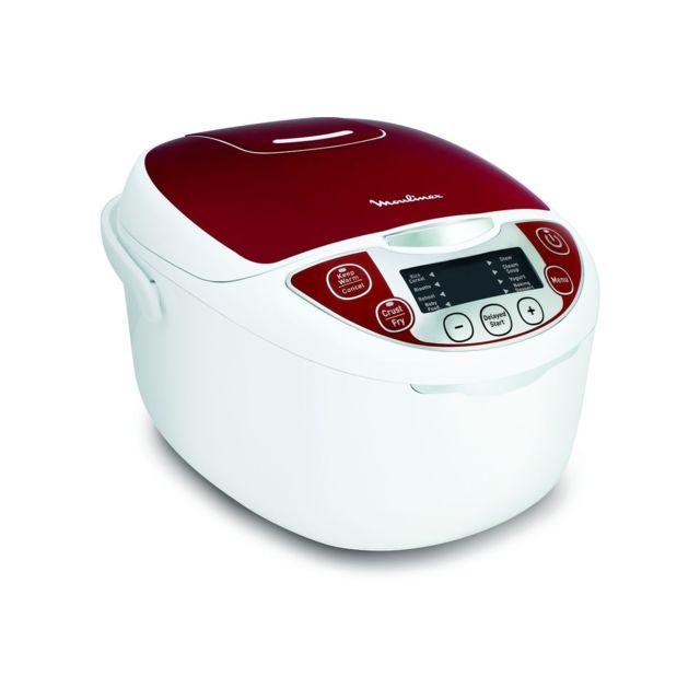 MOULINEX - Cuiseur multifonction Multicuiseur 12EN1 Rouge MK705111 Rouge et Blanc