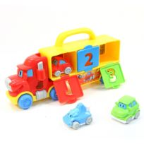 Be Toys - Go Babies - Camion musical et 3 Petites Voitures
