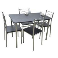 - Ensemble de repas table + chaises Tuti wengé