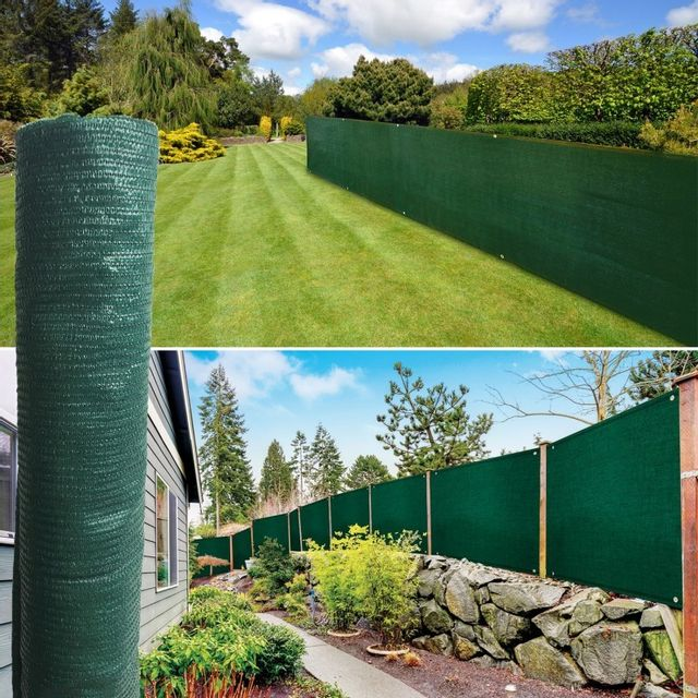 IDMARKET Brise vue vert 1 x 10 m 90 gr/m² classique