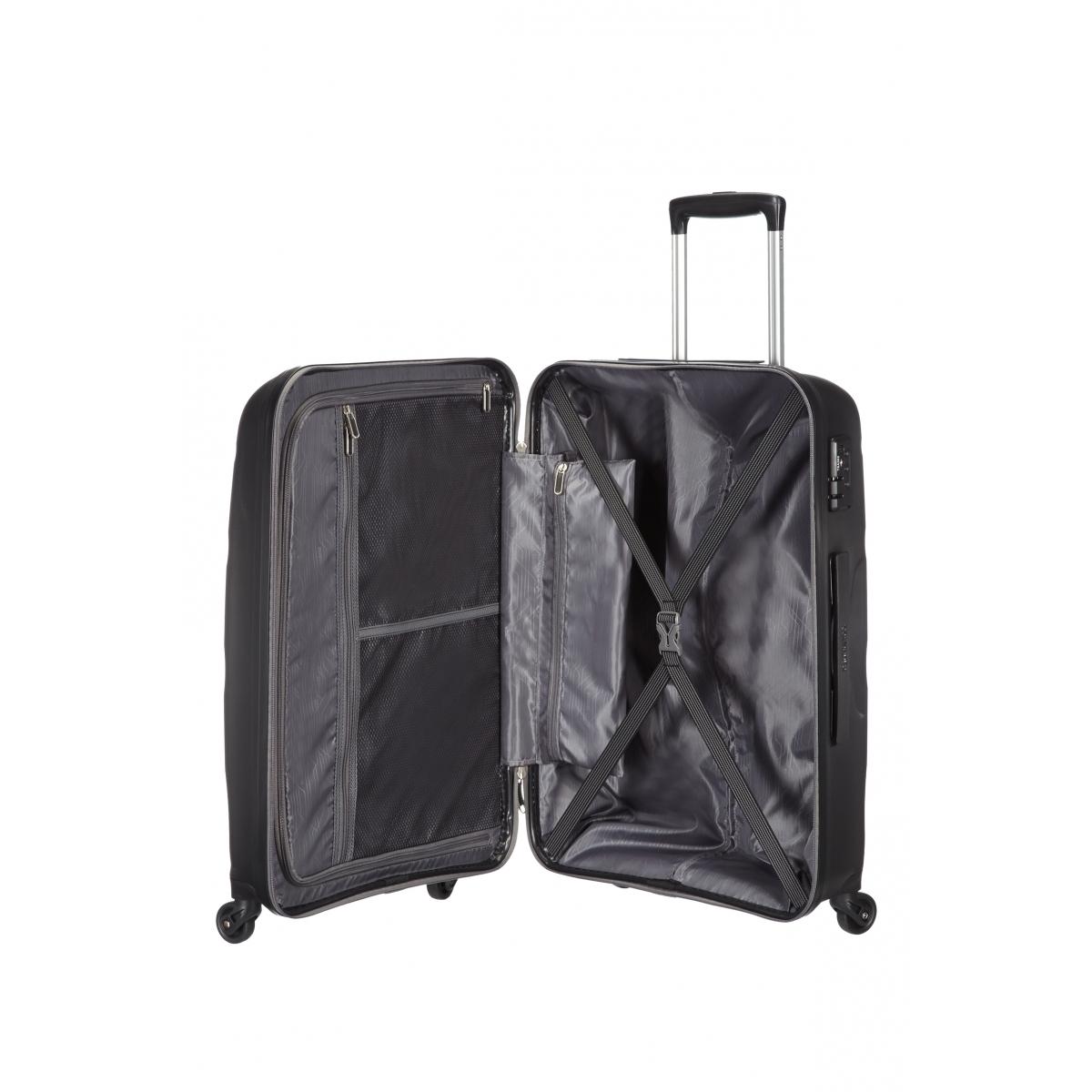 american tourister valise bon air spinner m noir 57. Black Bedroom Furniture Sets. Home Design Ideas