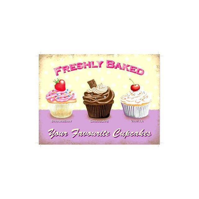 Universel Plaque gateau cupcakes breshly baked tole deco cuisine