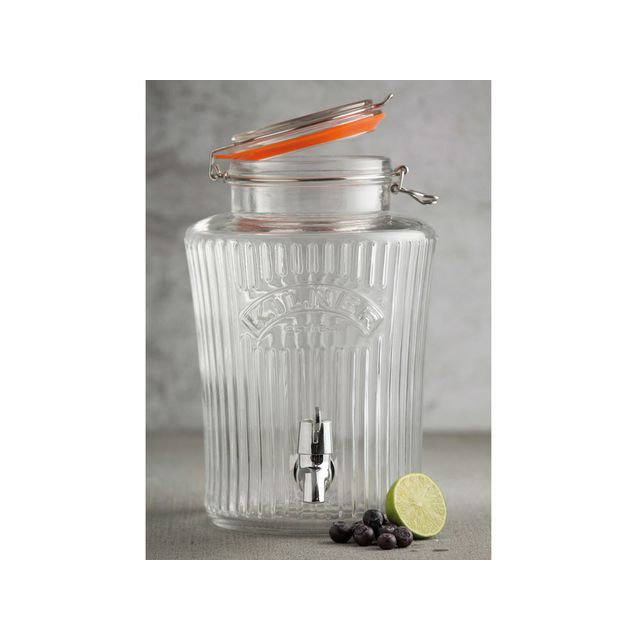 Kilner Distributeur de boisson en verre version Vintage Drinking - 5L