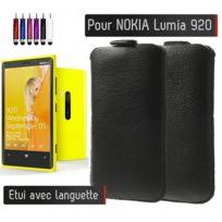 Shot - Etui Pull up Noir Nokia Lumia 920