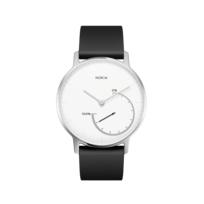 Steel Blanc- Acier argenté/ Bracelet noir