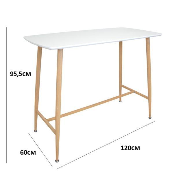 93838af4d2845f Zons - Stockholm Mange debout rect 120x60x95.5cm Blanc - pas cher ...