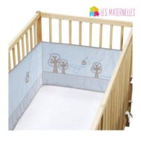 Les Douces Nuits de Maé - Tour de lit bleu pour lit bébé