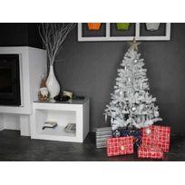 JARDIDECO - Sapin de Noel artificiel de Luxe Blanc 120 cm