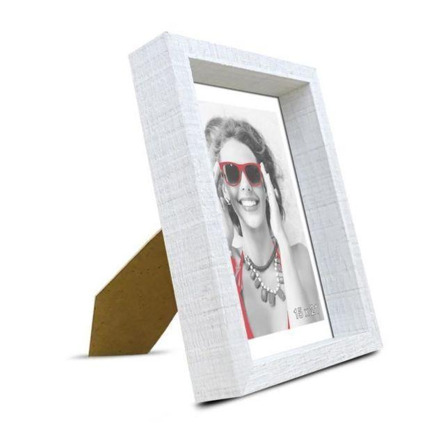 Icaverne CADRE PHOTO SCALLA Cadre photo moulure coffre 15x21 cm blanc
