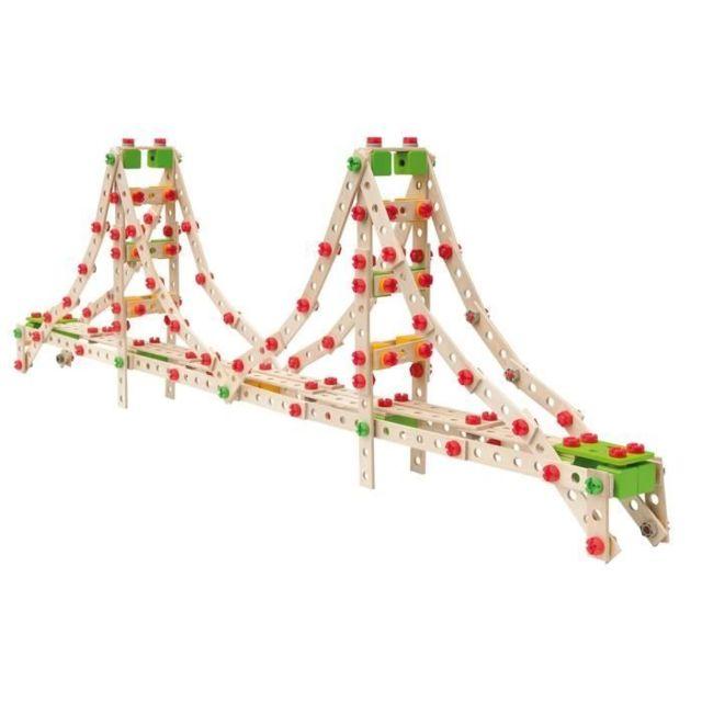 JEU D'ASSEMBLAGE - JEU DE CONSTRUCTION - JEU DE MANIPULATION Jeu Construction Bois - Golden Gate 3 en 1 - 444 Pieces