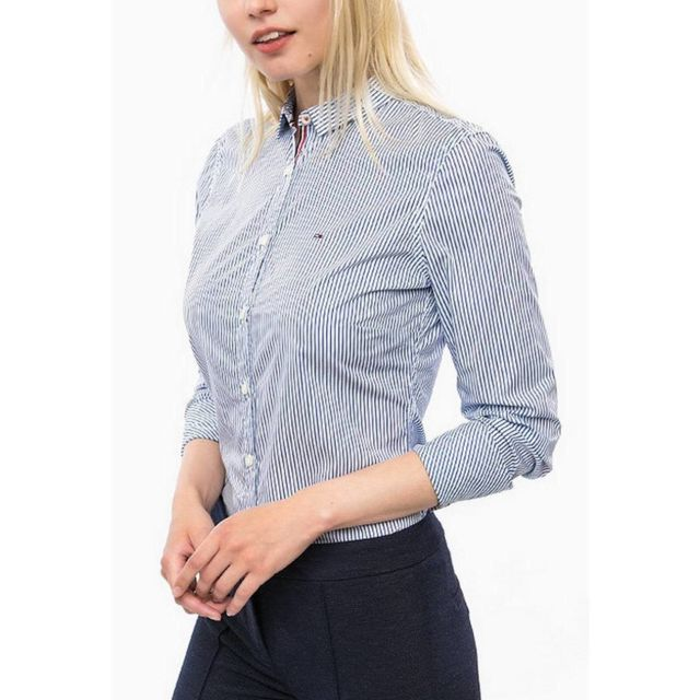 ee4d68cb5988 Tommy Hilfiger - Thdw Basic Stp Stretch Shirt L S 2 - pas cher Achat ...