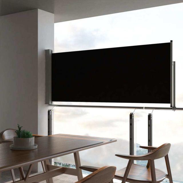Vidaxl Auvent latéral rétractable de patio 100 x 300 cm Noir